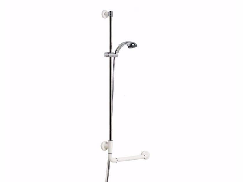 Maniglia di sostegno ad angolo fissa in alluminio estruso con doccetta NYLON | Maniglia di sostegno con doccetta - Saniline by Thermomat