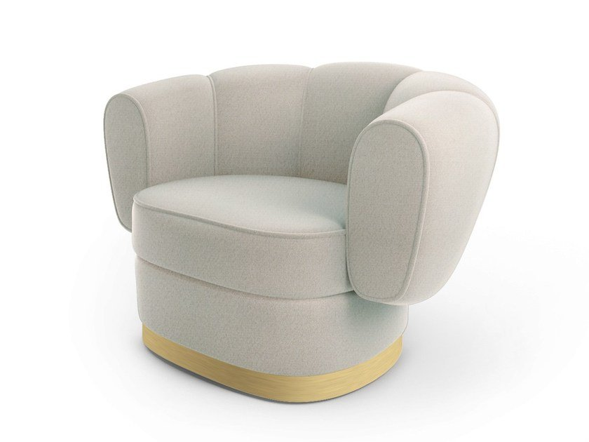 Fabric armchair with armrests GRACE | Armchair - MARIONI