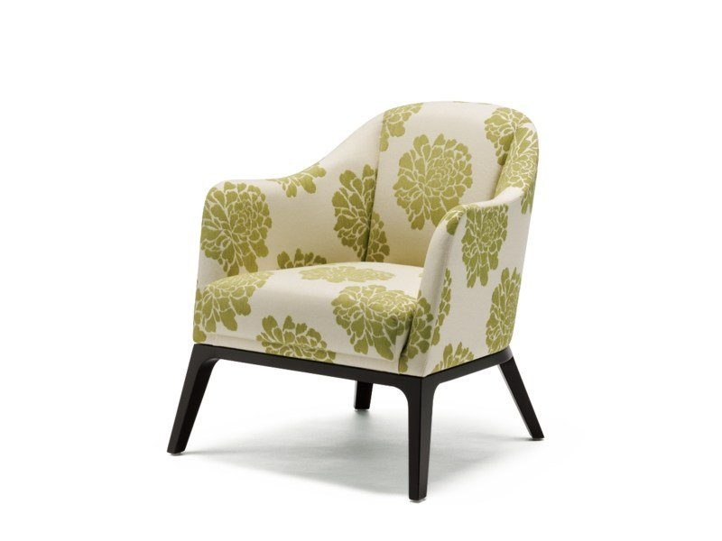 Club fabric armchair with armrests GRACE | Armchair - Wiesner-Hager