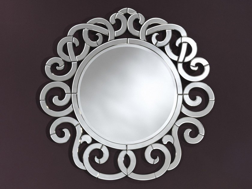 Round wall-mounted framed mirror GRACE - DEKNUDT MIRRORS