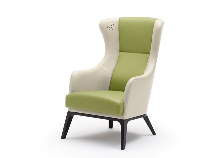Fabric wingchair with armrests GRACE | Wingchair - Wiesner-Hager