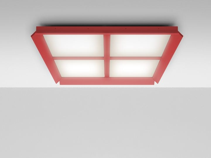 LED Ceiling mounted extruded aluminium panel light GRADIAN 1200 X 1200 | Ceiling mounted panel light - Artemide Italia