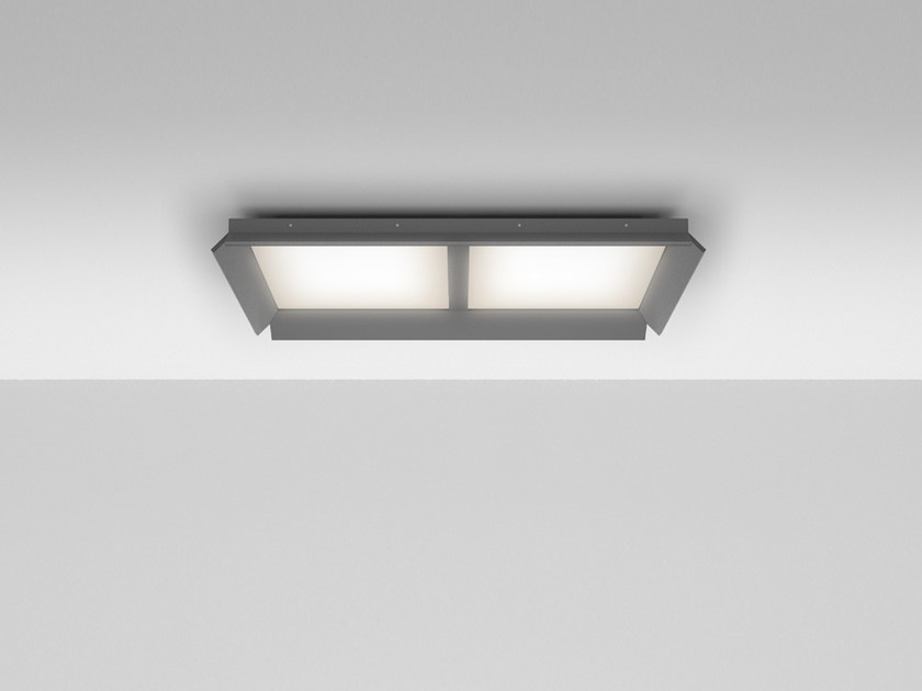 LED Ceiling mounted extruded aluminium panel light GRADIAN 1200 X 600 | Ceiling mounted panel light - Artemide Italia