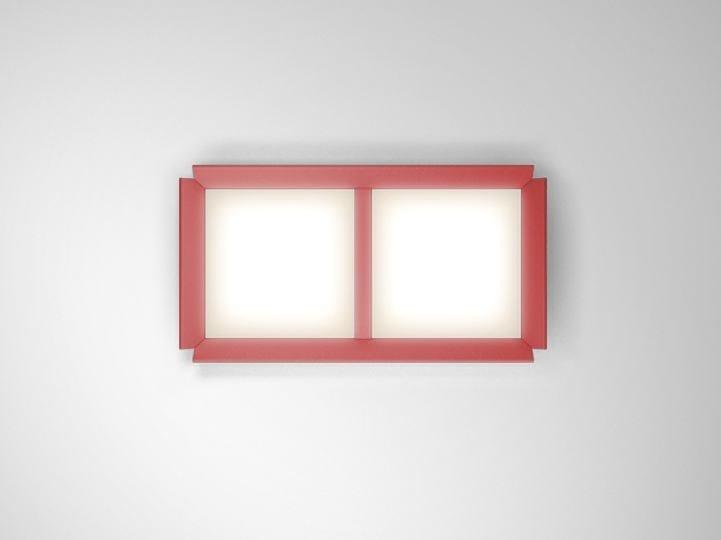LED wall-mounted extruded aluminium panel light GRADIAN 1200 X 600   Wall-mounted panel light - Artemide Italia