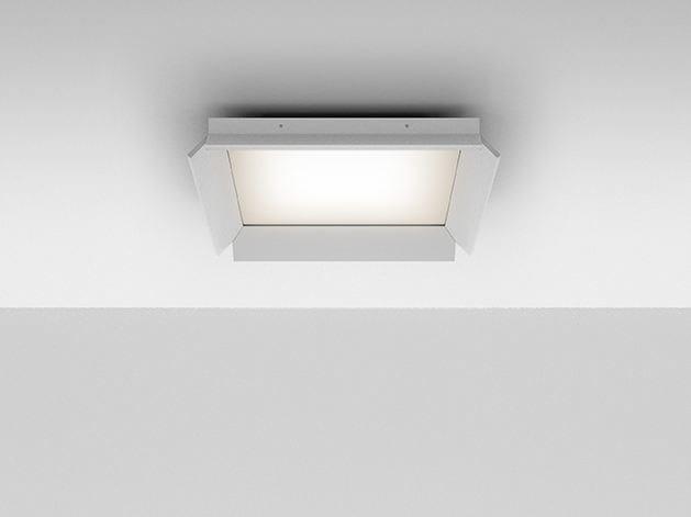 LED Ceiling mounted extruded aluminium panel light GRADIAN 600 X 600 | Ceiling mounted panel light - Artemide Italia