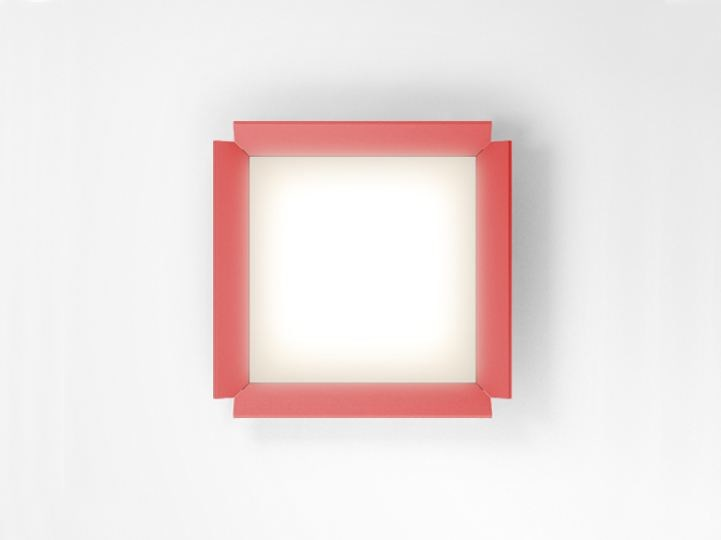 LED wall-mounted extruded aluminium panel light GRADIAN 600 X 600 | Wall-mounted panel light - Artemide Italia