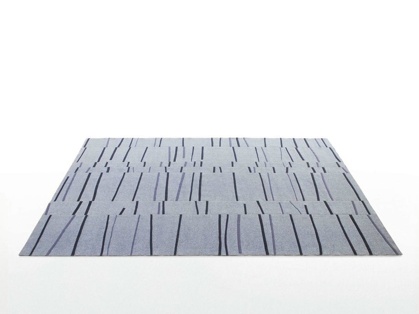 Striped felt rug GRAFFITO - Paola Lenti