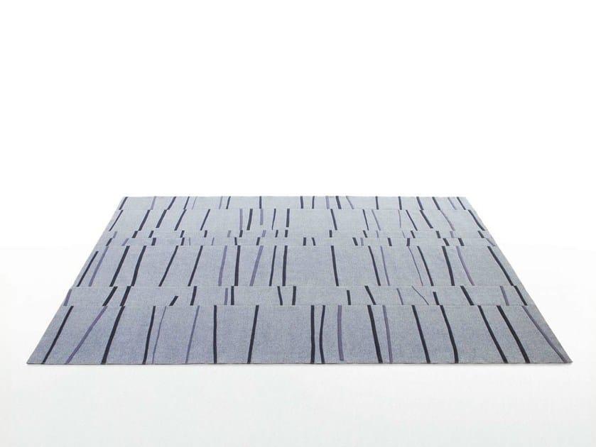 Striped felt rug GRAFFITO by Paola Lenti