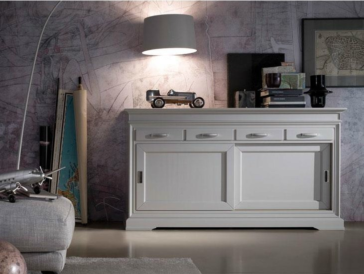 Lacquered solid wood sideboard GRANDAMA | Lacquered sideboard - Devina Nais