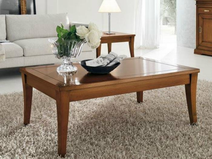 Square solid wood coffee table GRANDAMA | Coffee table by Devina Nais