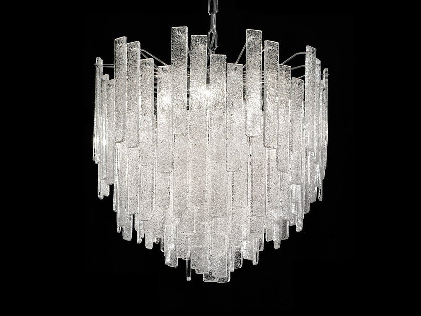 Direct light marble grit chandelier GRANIGLIA VE 1145 by Masiero