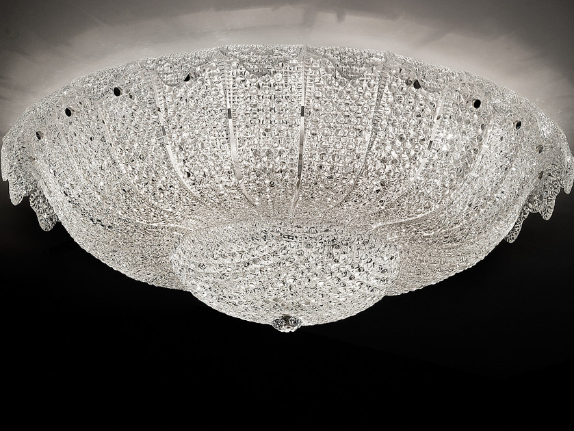 Direct light marble grit ceiling light GRANIGLIA VE 1148 by Masiero