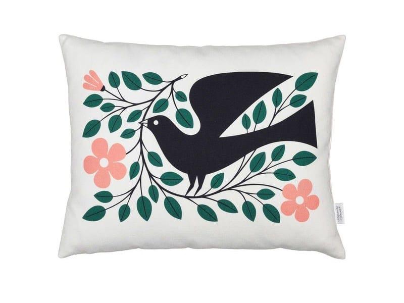 Rectangular cotton cushion GRAPHIC PRINT DOVE - Vitra