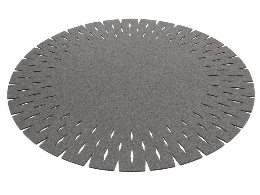 Round felt rug GRATE - HEY-SIGN