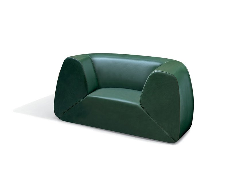 Upholstered leather armchair GRAVITÀ | Leather armchair - MissoniHome