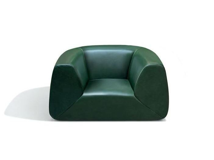 Upholstered leather armchair GRAVITA' MINI | Leather armchair - MissoniHome