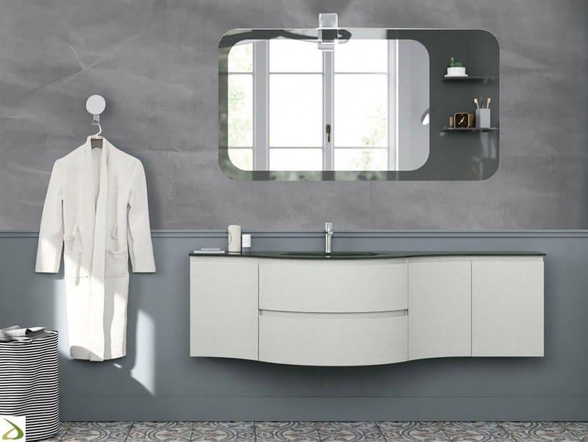Glass-fibre bathroom wallpaper GRAY PAPER by Wall LCA