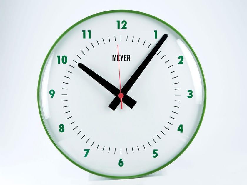 Wall-mounted plate clock GREEN GRASS - Meyer Objects