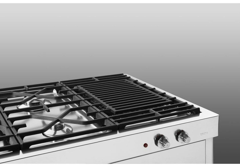 Electric stainless steel hob with grill GRILL ELETTRICO SU CARRELLO OUTDOOR | Cast iron hob - ALPES-INOX