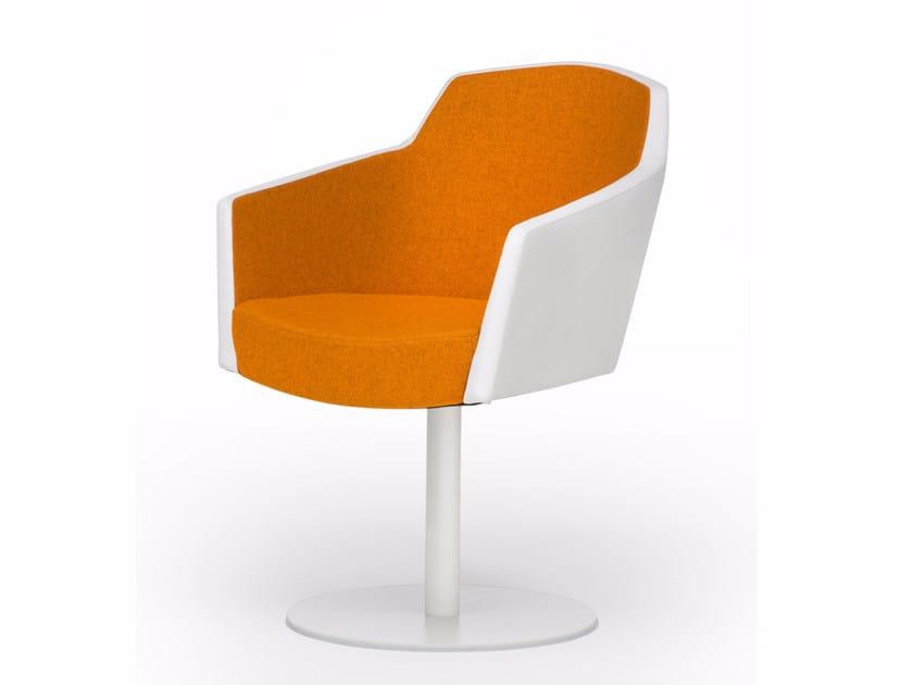 Swivel upholstered fabric easy chair GRIP S0902 - Segis