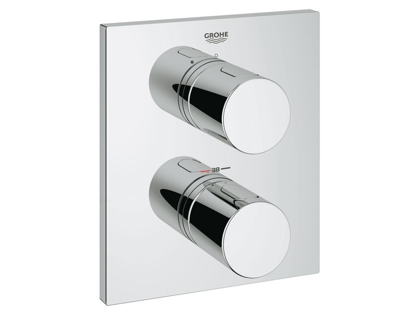 2 hole thermostatic shower mixer with plate GROHTHERM 3000 COSMOPOLITAN | Thermostatic shower mixer by Grohe
