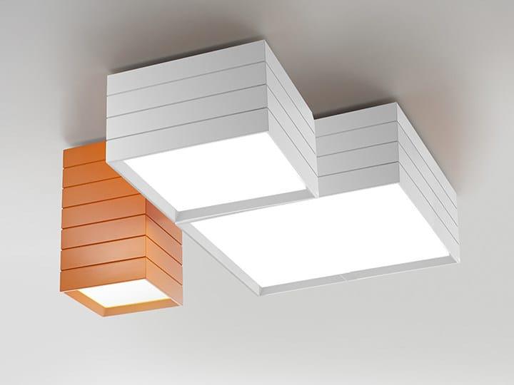 LED direct light extruded aluminium ceiling light GROUPAGE - Artemide Italia