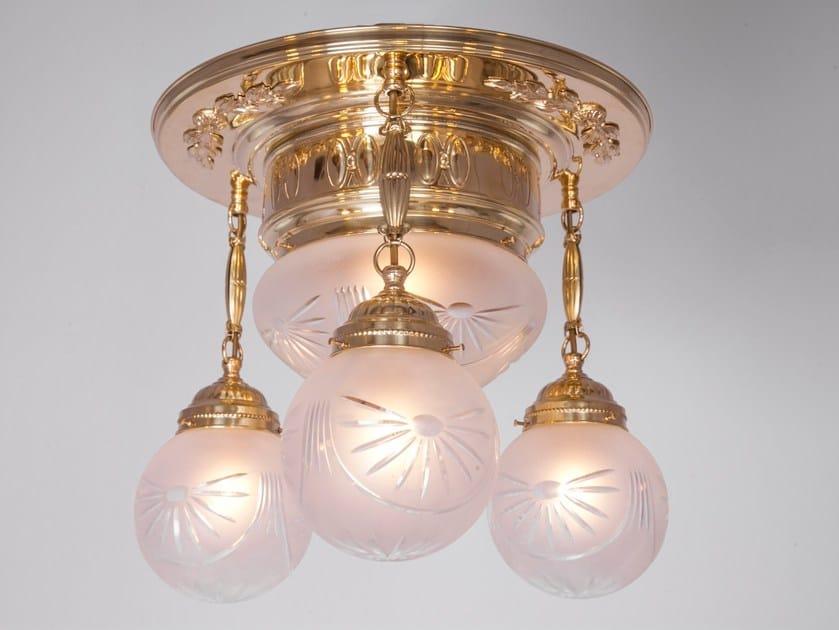 Direct light handmade brass ceiling lamp GYOR III   Ceiling lamp - Patinas Lighting