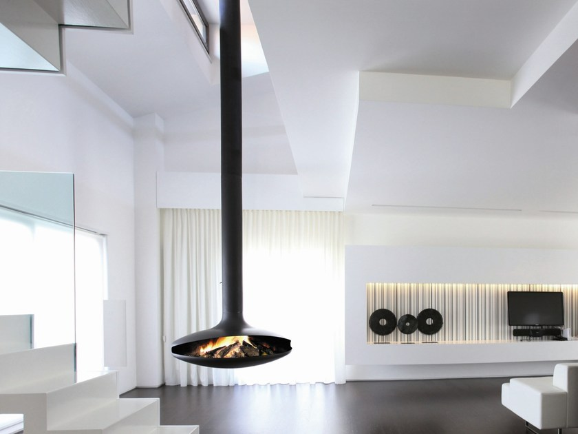 caminetto aperto centrale sospeso gyrofocus focus creation. Black Bedroom Furniture Sets. Home Design Ideas