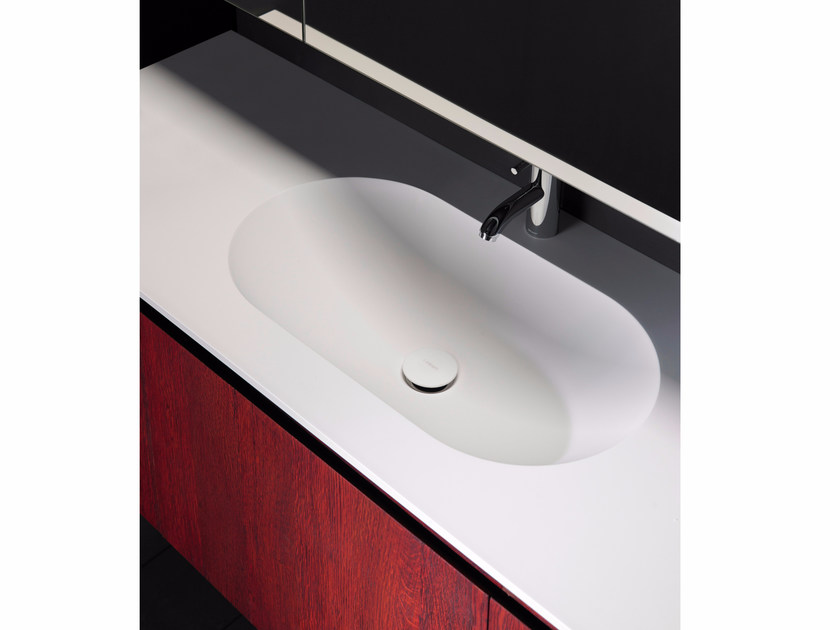 Solid Surface® washbasin countertop H10 | Solid Surface® washbasin countertop - INBANI
