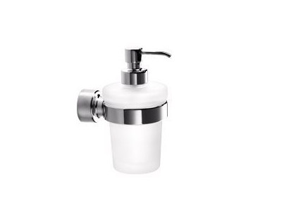 Wall-mounted glass liquid soap dispenser H2O | Liquid soap dispenser - INDA®