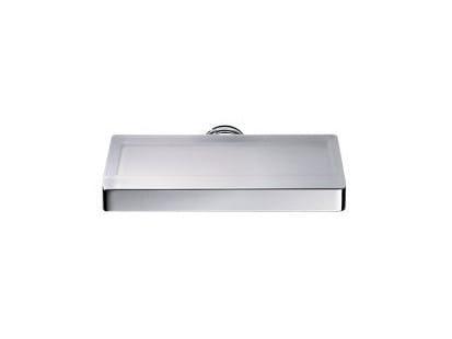 Wall-mounted glass soap dish H2O | Satin glass soap dish - INDA®