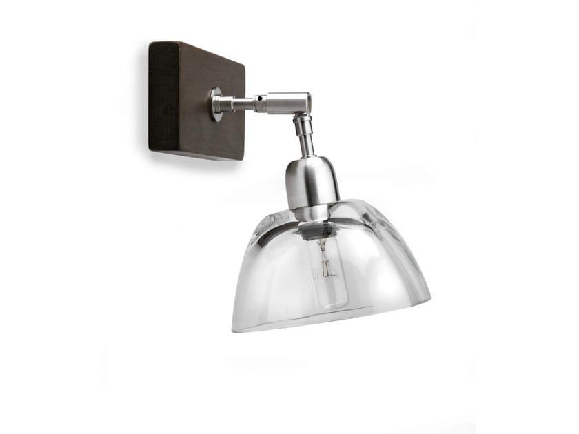 Wood and glass wall lamp H6700 | Wall lamp - Hind Rabii