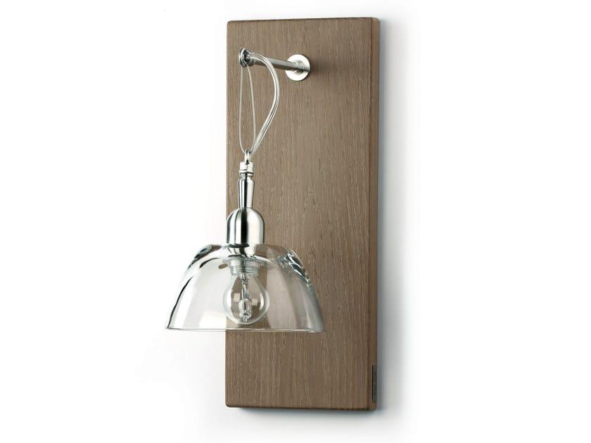 Wood and glass wall lamp H6800VT | Wall lamp - Hind Rabii