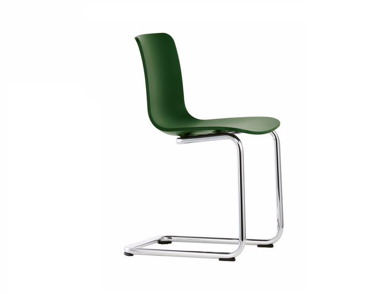 Sled base plastic chair HAL CANTILEVER by Vitra