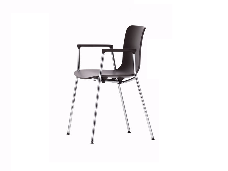 Stackable polypropylene chair with armrests HAL TUBE ARMREST - Vitra