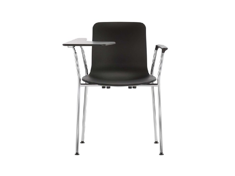 Stackable training chair with writing tablet HAL TUBE WRITING TABLET - Vitra