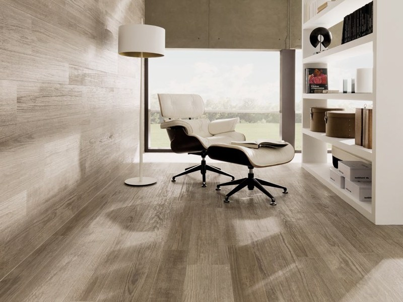 Indoor/outdoor porcelain stoneware flooring with wood effect HAMPTON by Venis