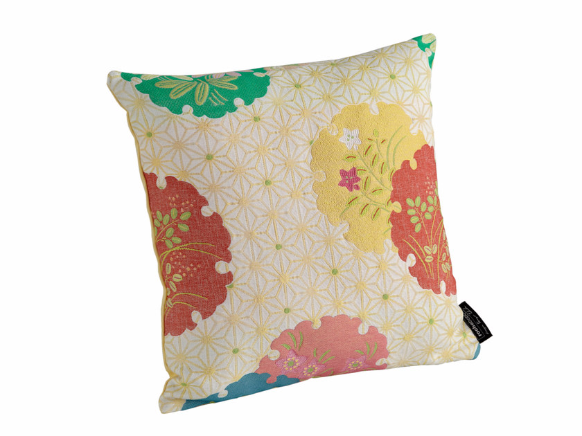 Motif square fabric cushion with removable cover HANAWA | Square cushion by ROCHE BOBOIS