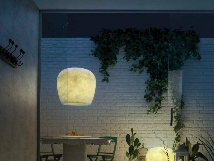 Handmade fiberglass pendant lamp HAND MADE IP44 - LUCENTE - Gruppo Rostirolla