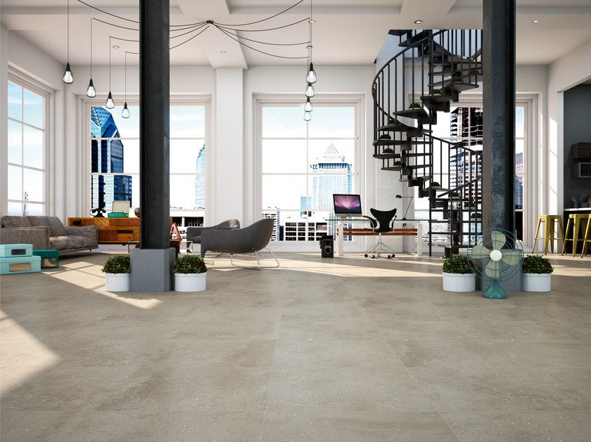 Ceramic flooring with concrete effect HANNOVER 60X60 by Carmen Ceramic Art