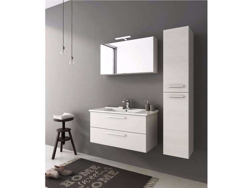 Wall-mounted vanity unit with drawers HARLEM H20 - LEGNOBAGNO