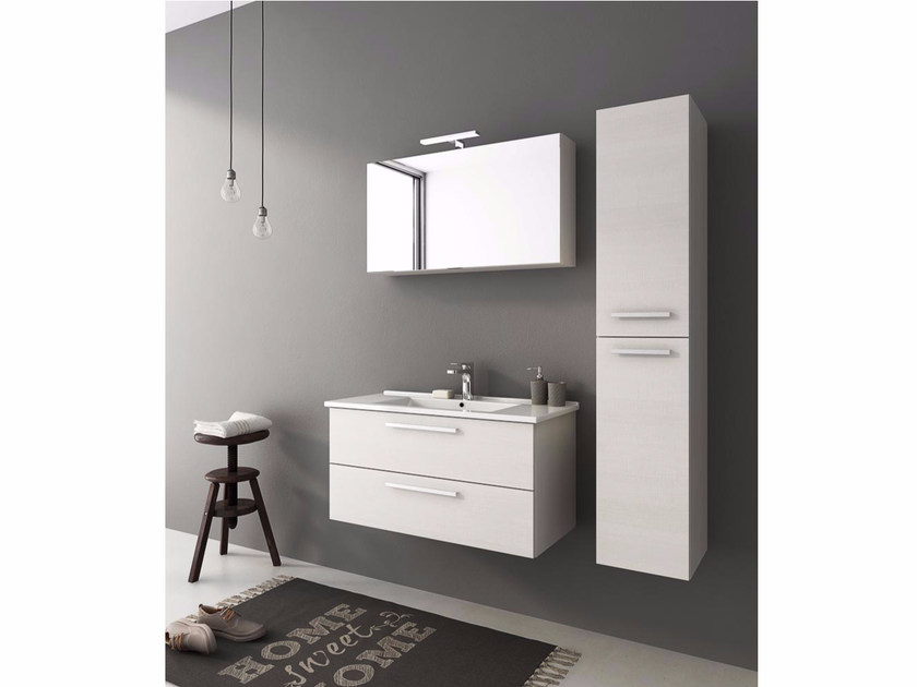 Wall-mounted vanity unit with drawers HARLEM H20 by LEGNOBAGNO