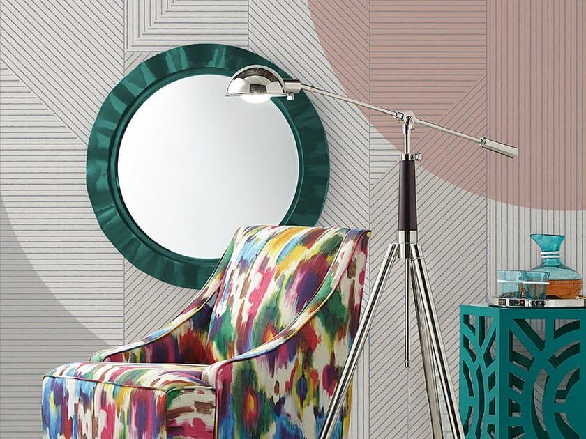 Carta da parati geometrica panoramica HARU - Inkiostro Bianco