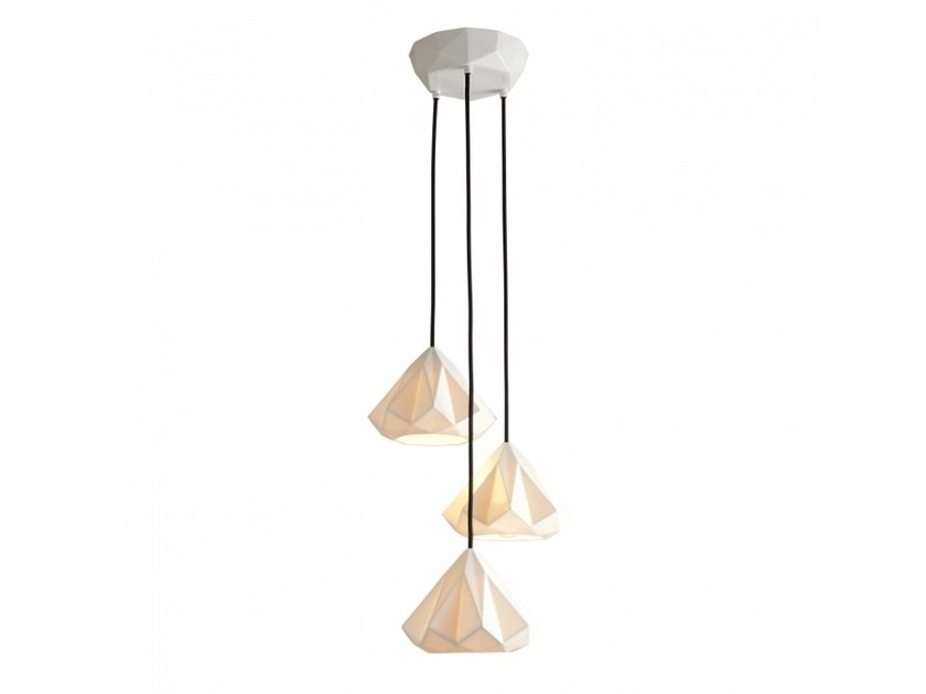 Porcelain pendant lamp with dimmer HATTON 1 | Porcelain pendant lamp by Original BTC