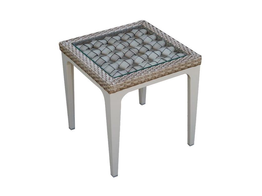 Tavolino da giardino quadrato per contract HEART 23065 - SKYLINE design
