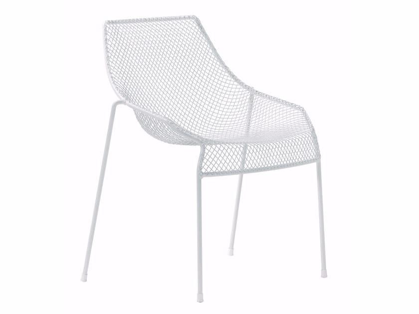 Sedia da giardino impilabile in acciaio HEAVEN | Sedia - EMU Group S.p.A.