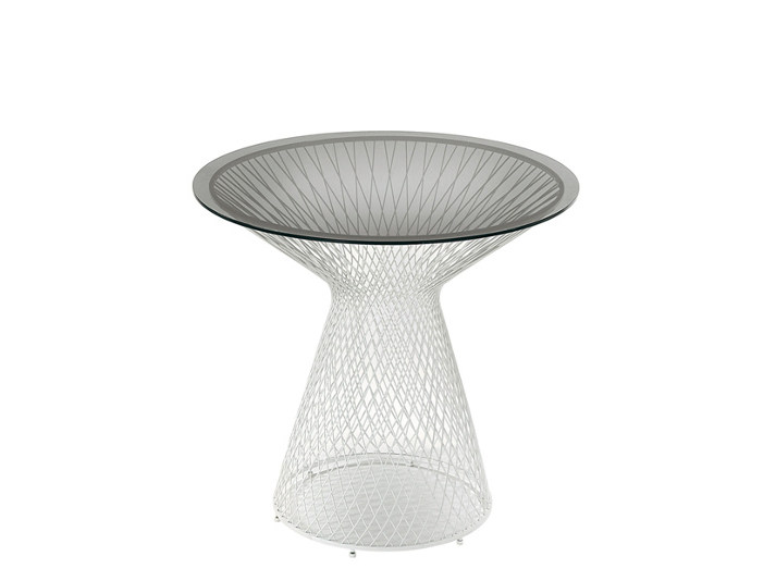 Crystal and steel coffee table / garden pouf HEAVEN | Coffee table - EMU Group S.p.A.