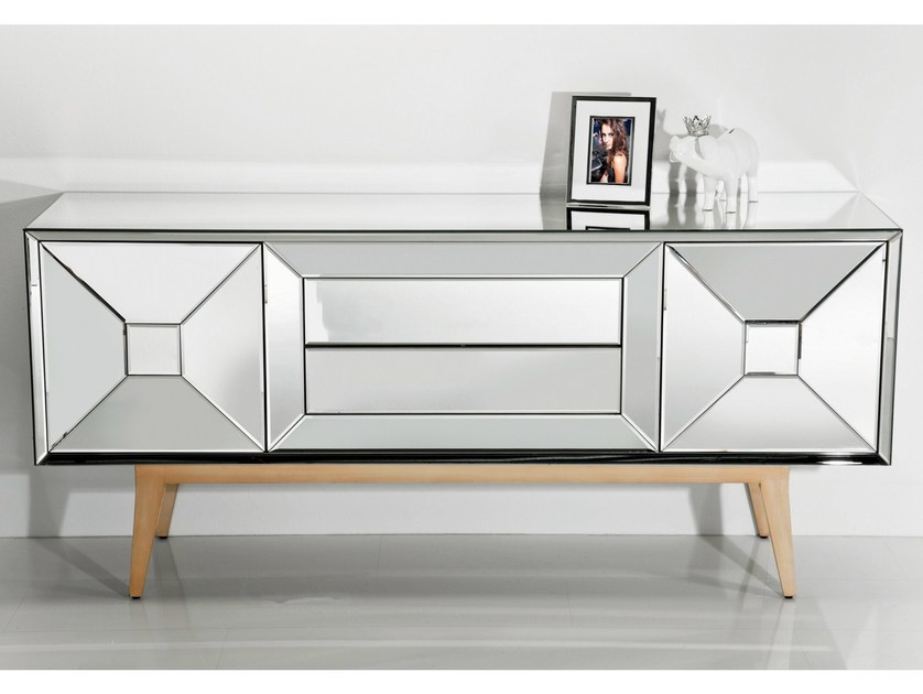 Mirrored glass sideboard HEAVEN + EARTH | Sideboard - KARE-DESIGN