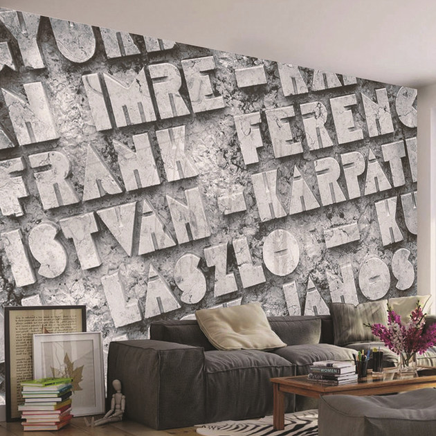 Washable writing nonwoven wallpaper HEAVY - CREATIVESPACE