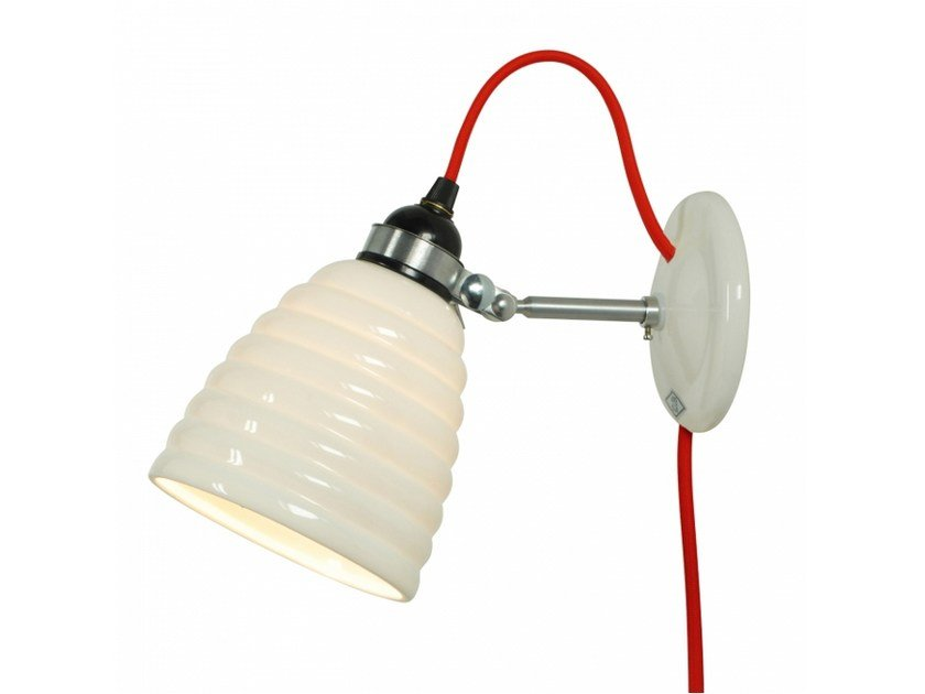 Adjustable porcelain wall lamp with fixed arm HECTOR BIBENDUM PLUG - Original BTC